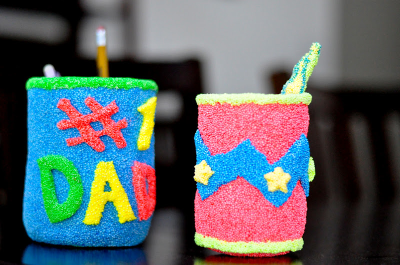 Fathers Day Craft Ideas For Kids Part - 47: Fatheru0027s Day Floam Pencil Holder Craft
