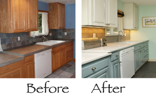 Delightful Painted Kitchen Cabinets Before And After Full Size Of Kitchen Cool  Charcoal Painted Kitchen Cabinets Large