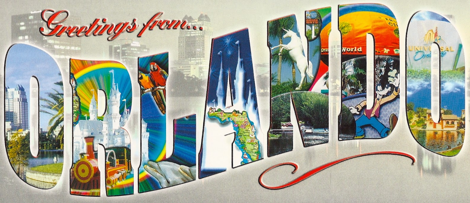 My favorite views florida orlando greetings from large letter greetings from orlando florida kristyandbryce Image collections