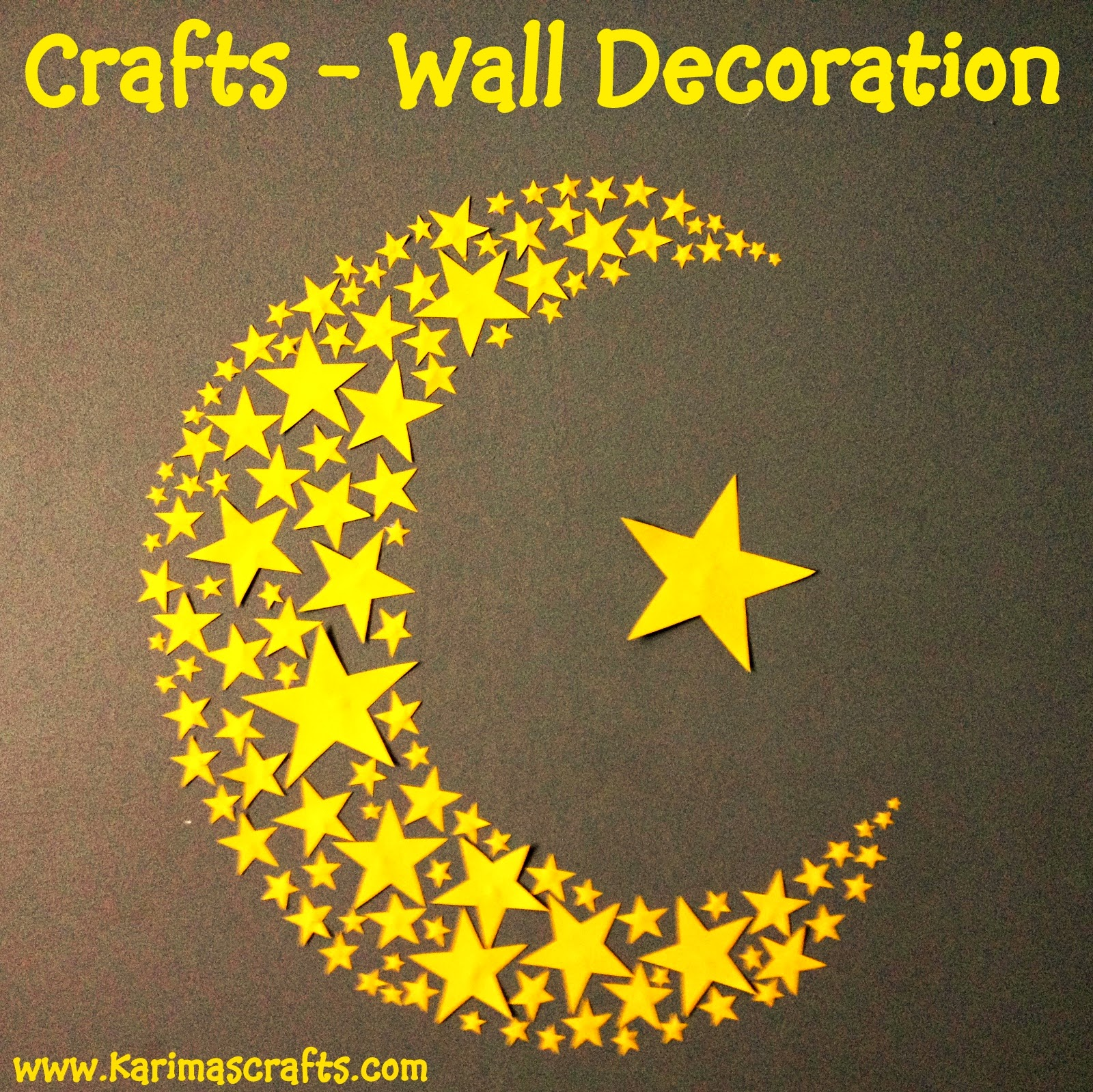 crescent moon and stars wall art ramadan crafts
