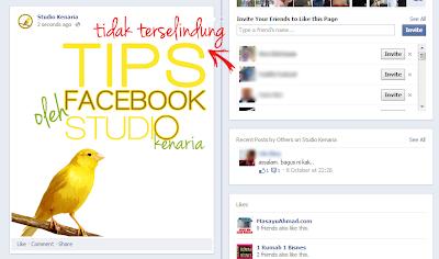 tips facebook, ubah suai gambar, edit gambar, saiz gambar facebook