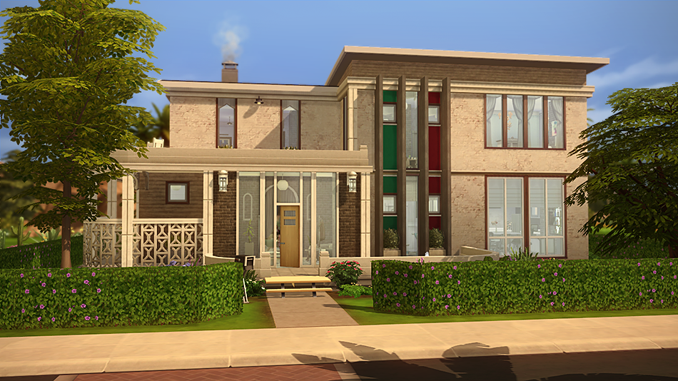 Vila da arte casa moderna the sims 4 pirralho do game for Casas modernas the sims 4