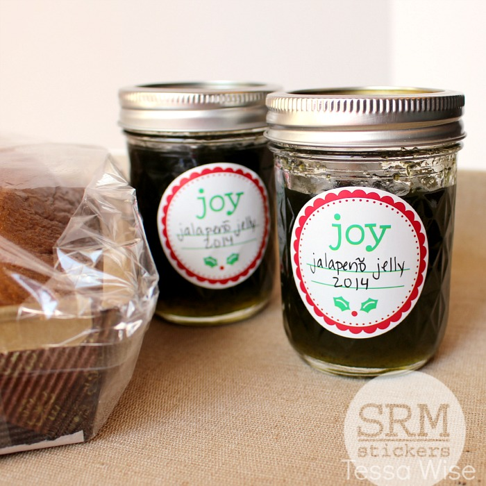 SRM Stickers Blog - Krafty Christmas Gift Set by Tessa - #kraftbox #shimmertwine, #stickers #labels #giftbox