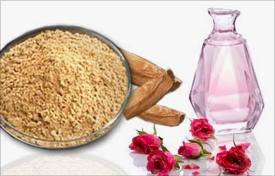 use sandalwood and rosewater for acne scar removal