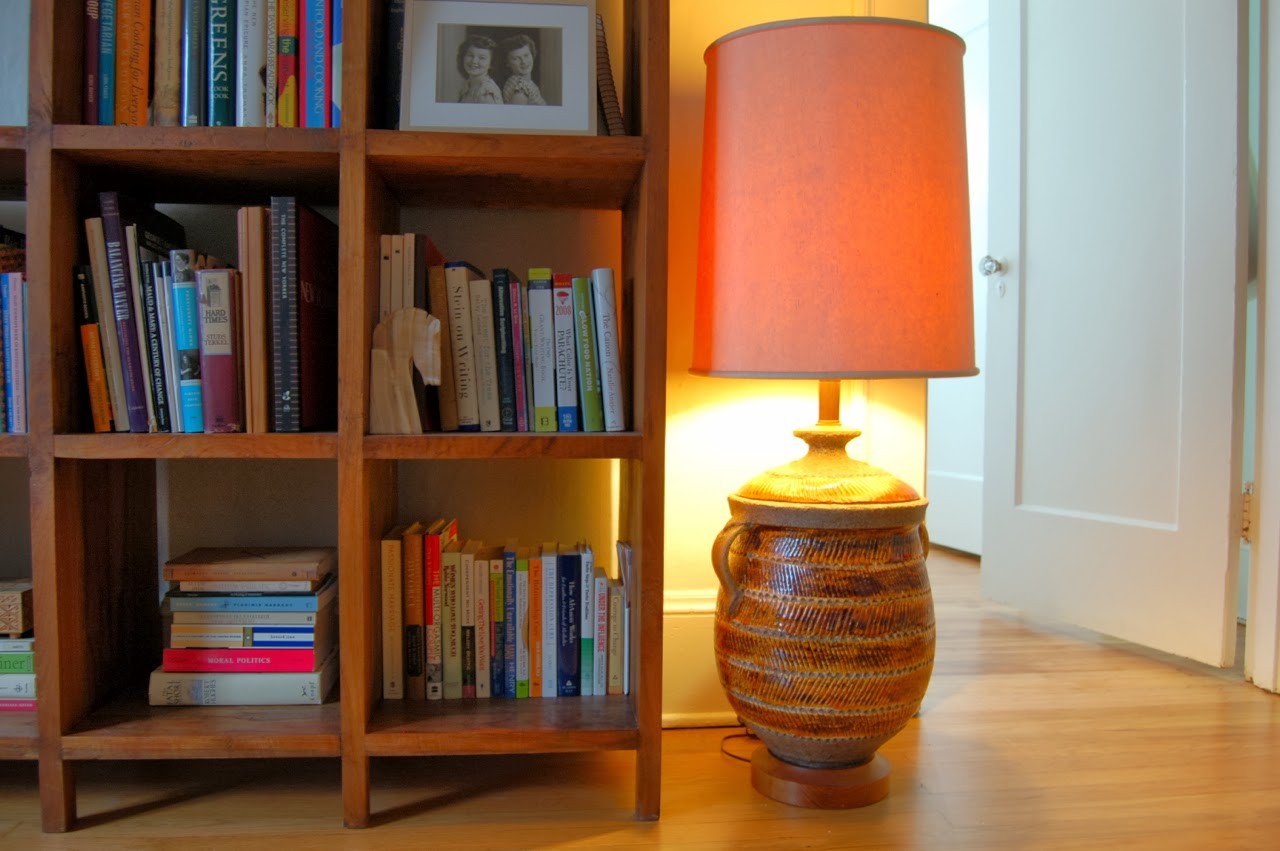 Secondhand goods real things light and dark vintage oversized ceramic herringbone patterned table floor lamp with handles aloadofball Gallery