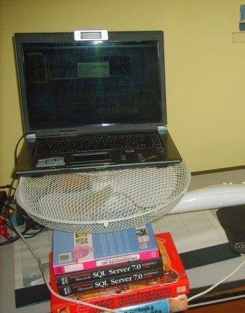 computer and electric fan