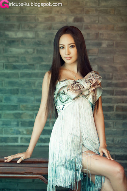 3 Janice in the beautiful dresses-very cute asian girl-girlcute4u.blogspot.com