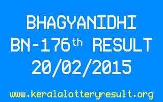BHAGYANIDHI BN 176 Lottery Result 20-2-2015