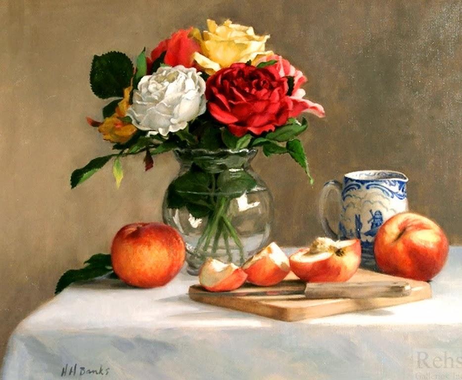 bodegones-realistas-con-flores-y-frutas