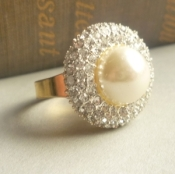 bling pearl ring