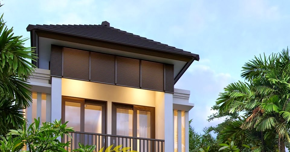 Desain Rumah Minimalis 2 Lantai Luas Tanah 100m2 Gambar