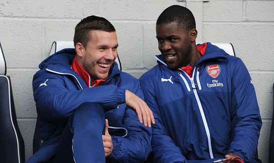 Arsene Wenger comments on Campbell and Podolski
