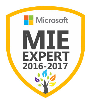 Microsoft Innovative Educator Expert 2016-2017