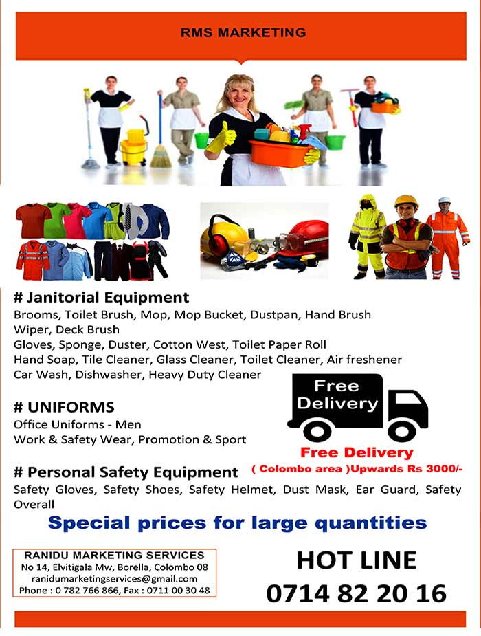 Uniforms, Janitorial and Personal Safety Equipments.
