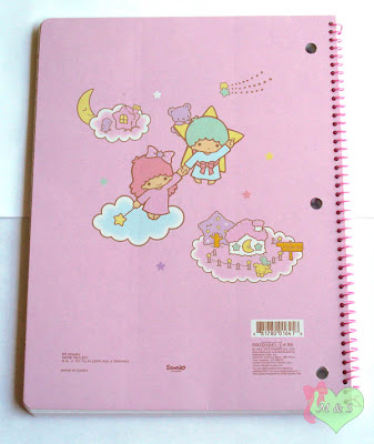 Kawaii Pastel Little Twin Stars Notebook