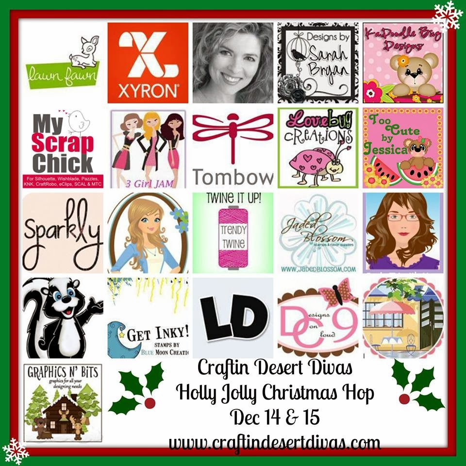 Craftin Desert Divas Holly Jolly Christmas Hop Dec 14-15