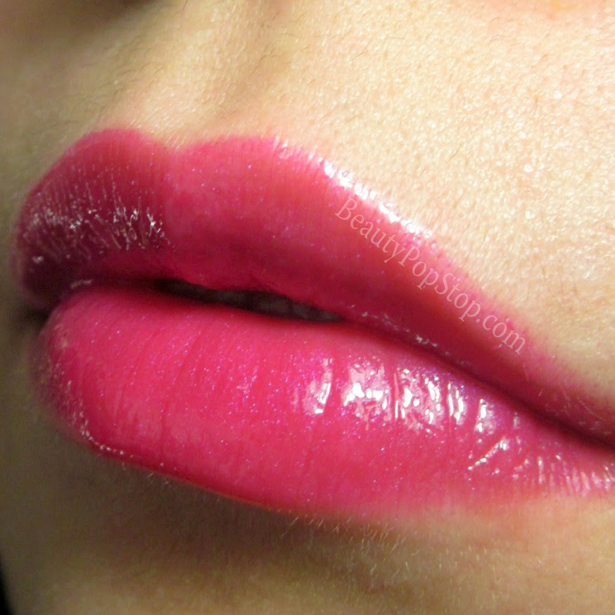 mac pink poodle by request lipglass swatch and review