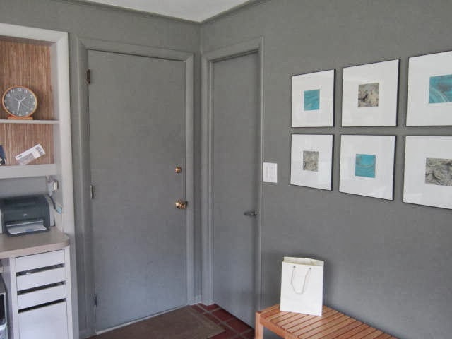 Wonderful The Walls Are Benjamin Mooreu0027s Chelsea Gray. I Used The Leftover Paint And  Painted Everything The Same Color...door Trim And The Doors.