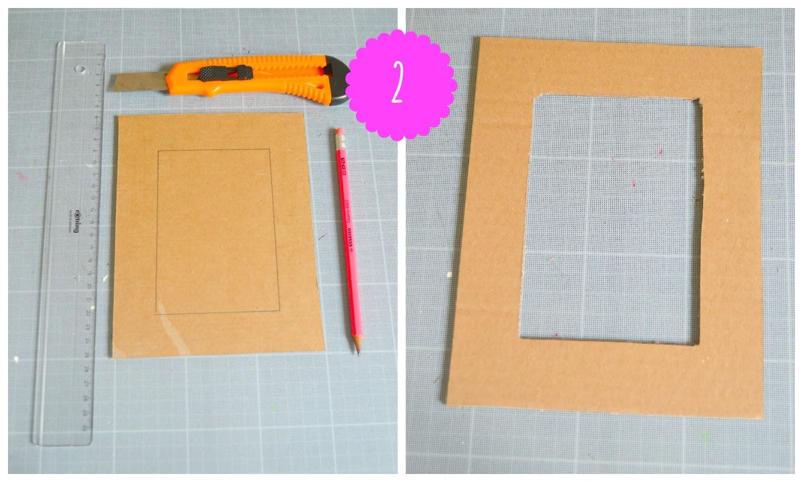 Preferenza Idee per la festa della mamma: la cornice di cartone riciclato HL62