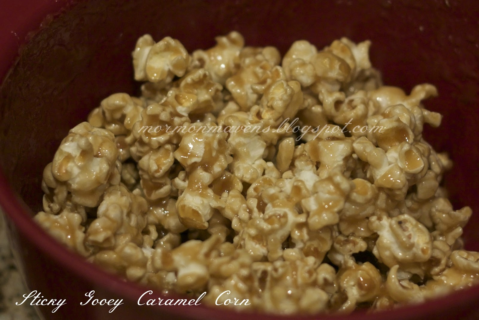 Mormon Mavens in the Kitchen: Sticky Gooey Caramel Corn