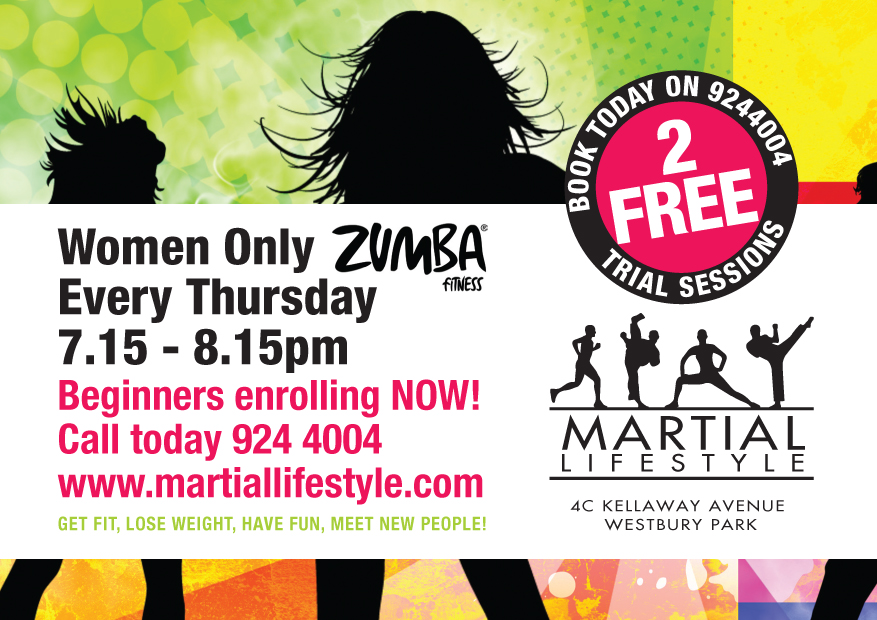 Martial Lifestyle: NEW Boxercise & Zumba Flyer