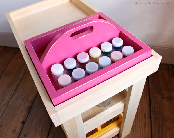 art caddy with handle free plans