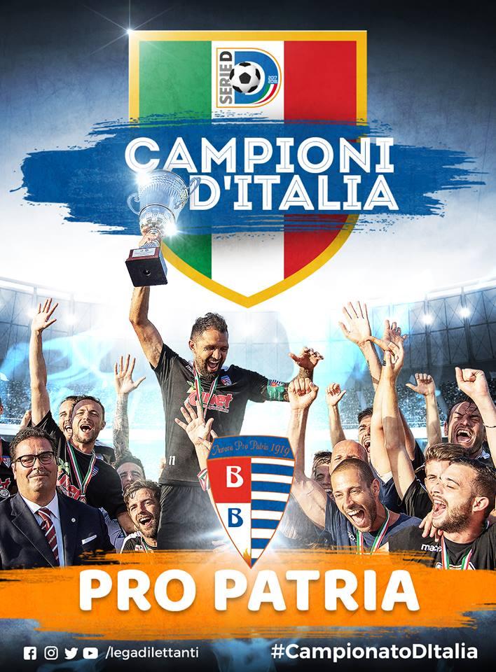 PRO PATRIA CAMPIONE D'ITALIA SERIE D-2017/2018