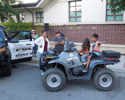 Children Playing on Police Vehicle, August 4, National  Night Out, © B. Radisavljevic