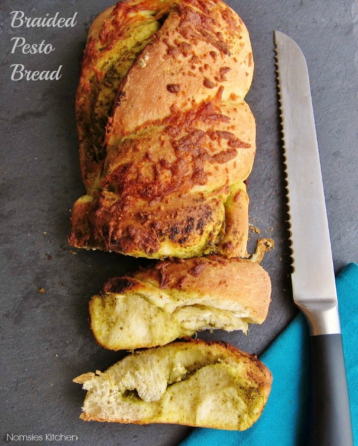 Braided Pesto Bread Recipe from Nomsies Kitchen