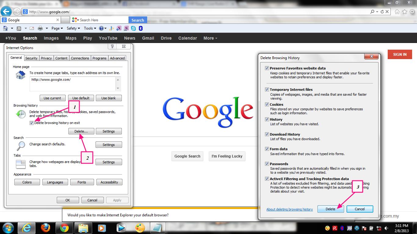 Delete yahoo search history windows - 222.2KB