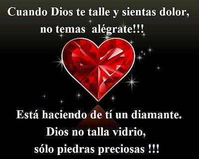 Cuando Dios te talle y sientas dolor, no temas... alegrate!!!