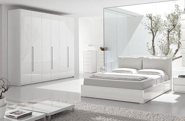 Colores relajantes para pintar dormitorios dormitorios - Dormitorio con muebles blancos ...