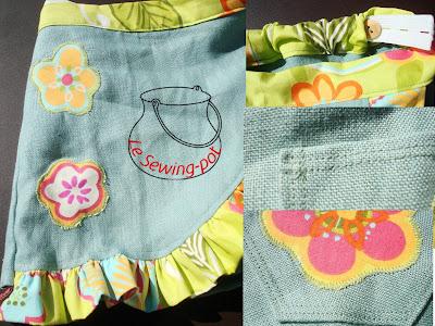 jupe short skort lin coton faux-wrap shorts détails
