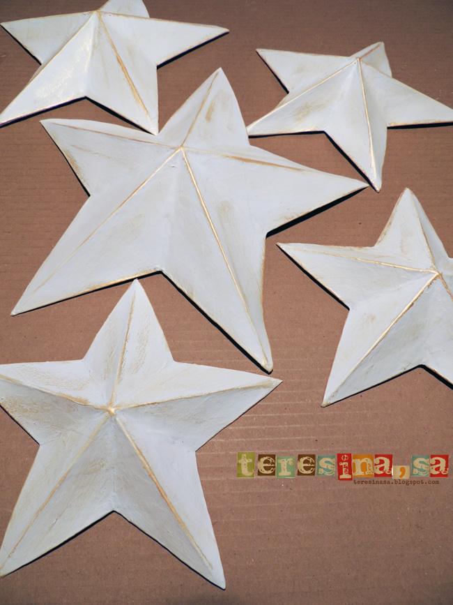 Estrellas de papel mach teresina s a manualidades - Estrellas de papel ...