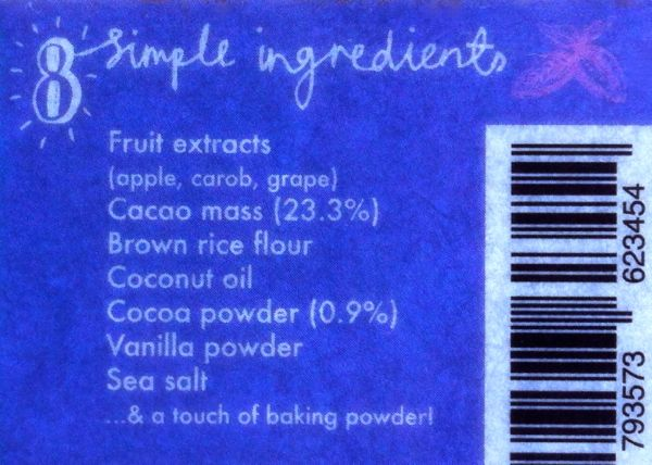 Happy Kitchen Chocolate Brownies ingredients