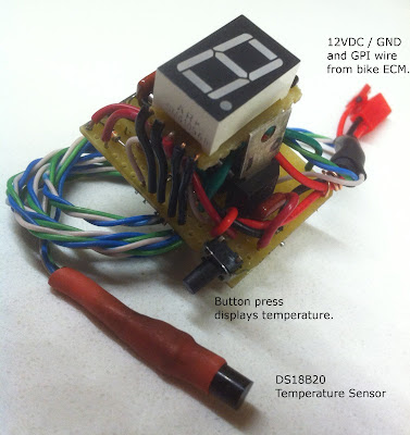 motorcycle gear position indicator with microcontroller