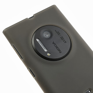 Frosted TPU Jelly Case for Nokia Lumia 1020 - Grey