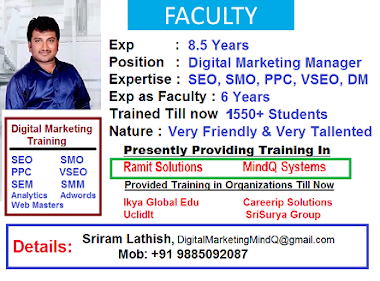 Digital Marketing Trainer - About Faculty