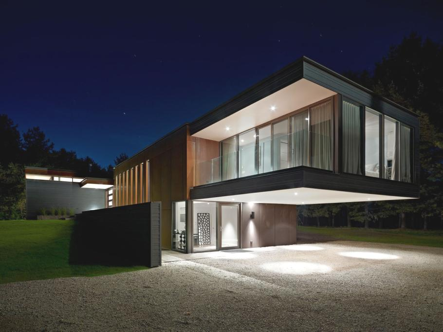 Fresh modern design fresh modern residence canada for Modern house plans canada