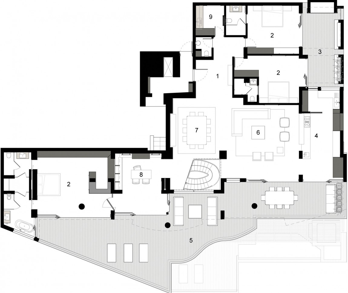 World of architecture clifton view mansion by antoni for Apartment plans south africa