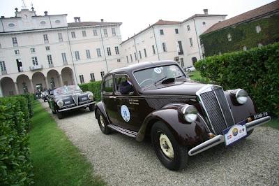 Ezio Salviato su Lancia Aprilia del 1939