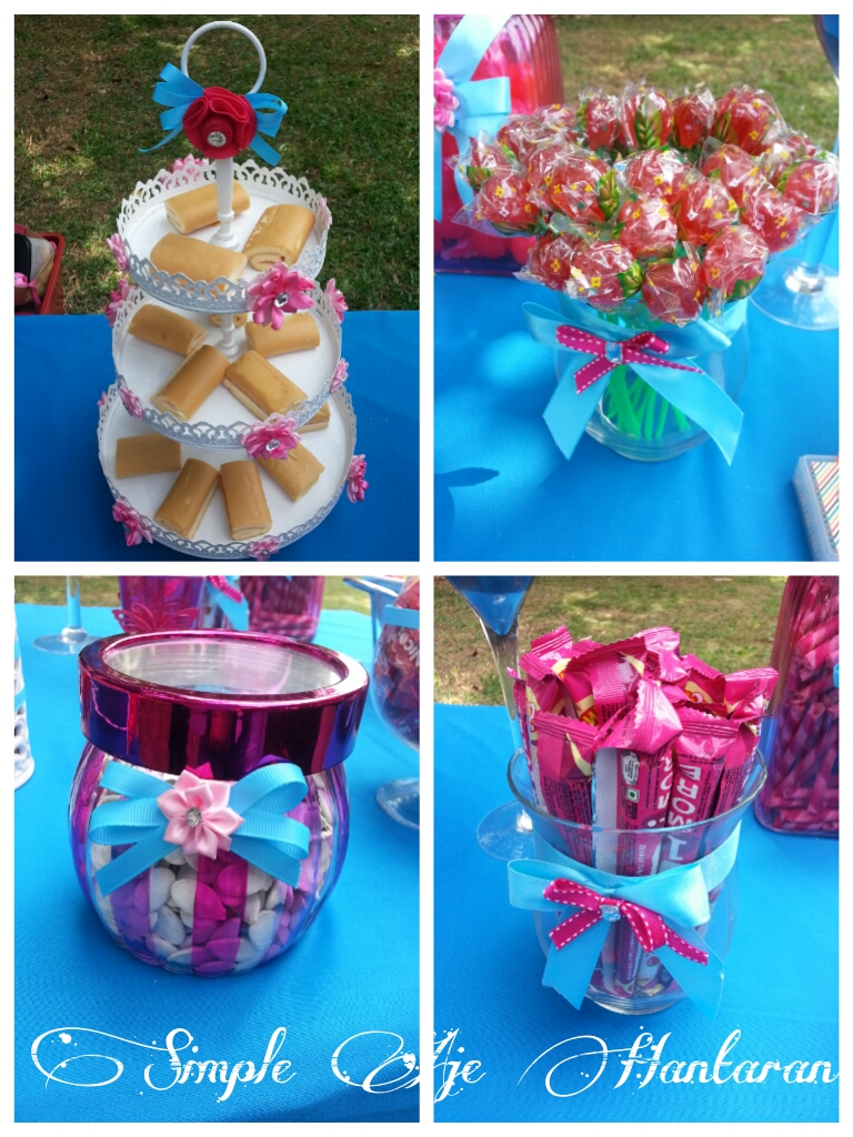 Simple Aje Hantaran Candy Buffet Turquoise And Pink Fyza