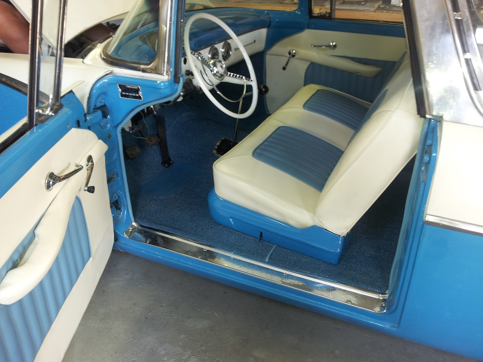 Homestyle Custom Upholstery And Awning 56 Crown Vic Headliner Trunk Carpet And Interior Install