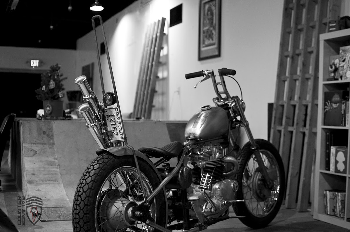 Counter Balance Motorcycles 1960s Triumph Bonneville Chopper