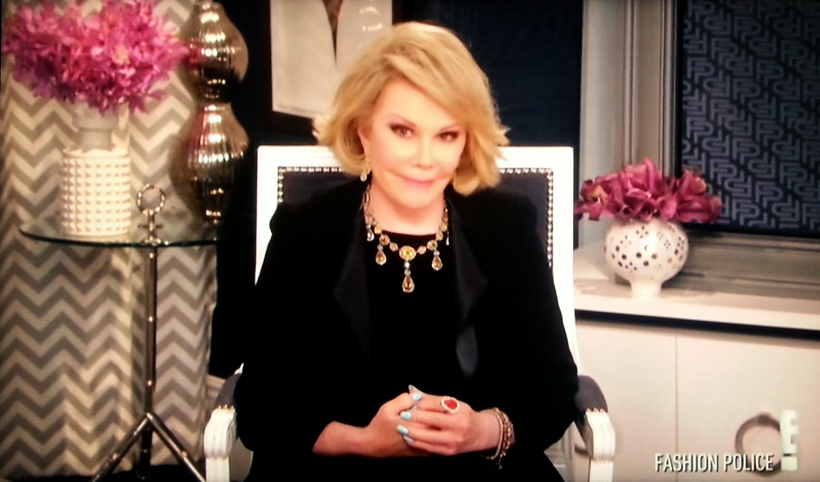 Joan Rivers Fashion Police 2014 Joan Rivers becomes emotional