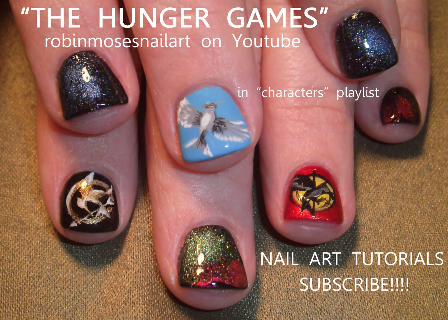 the hunger games nail, hunger games nail, hunger games nail art, mockingjay  nail, mockingbird nail, jabberjay nail, robinmosesnailart, hunger games  nailart, ... - Nail Art Design: The Hunger Games Nail, Hunger Games Nail, Hunger