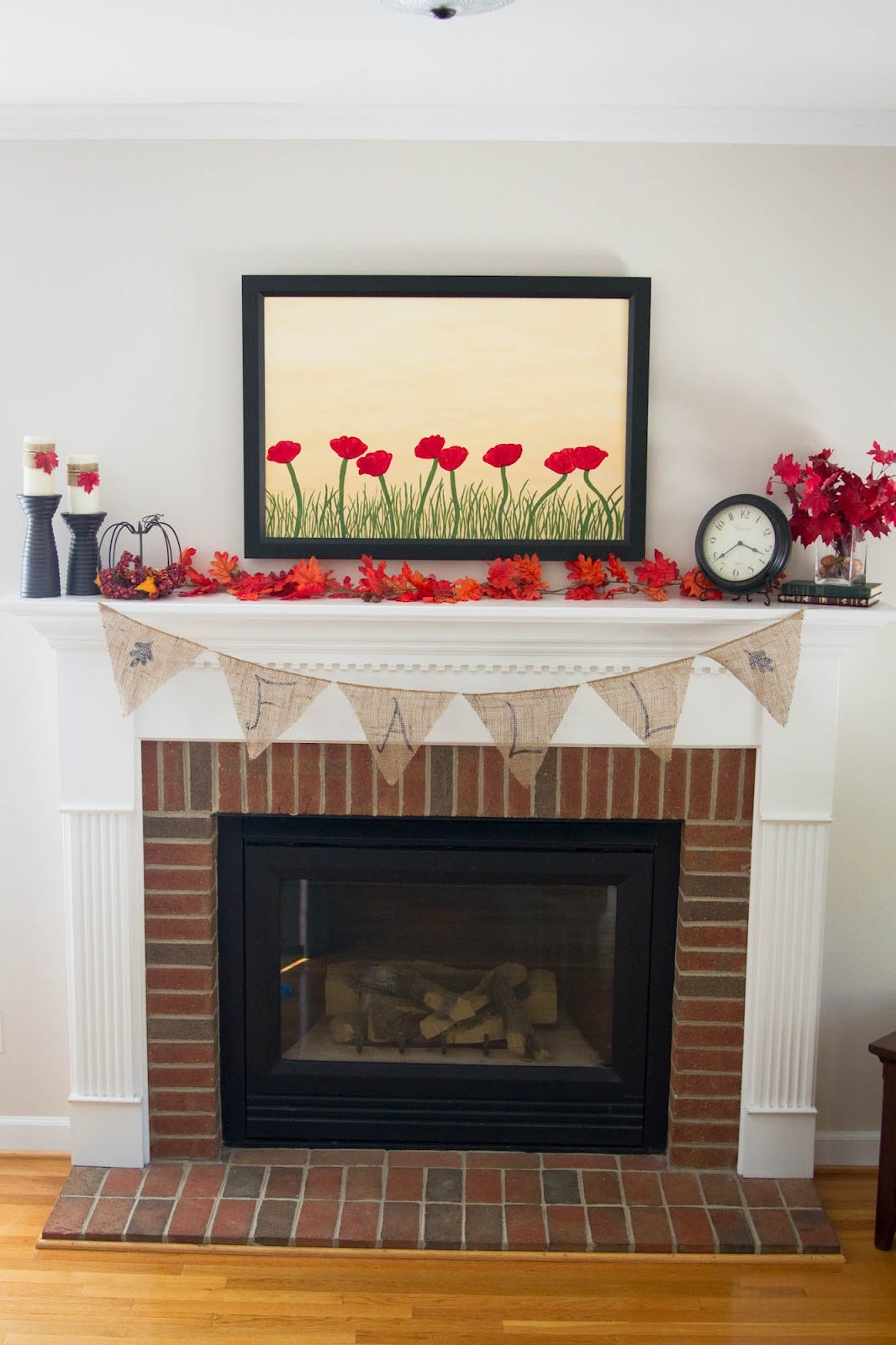 Little Bits Of Home Fall Fireplace Decor