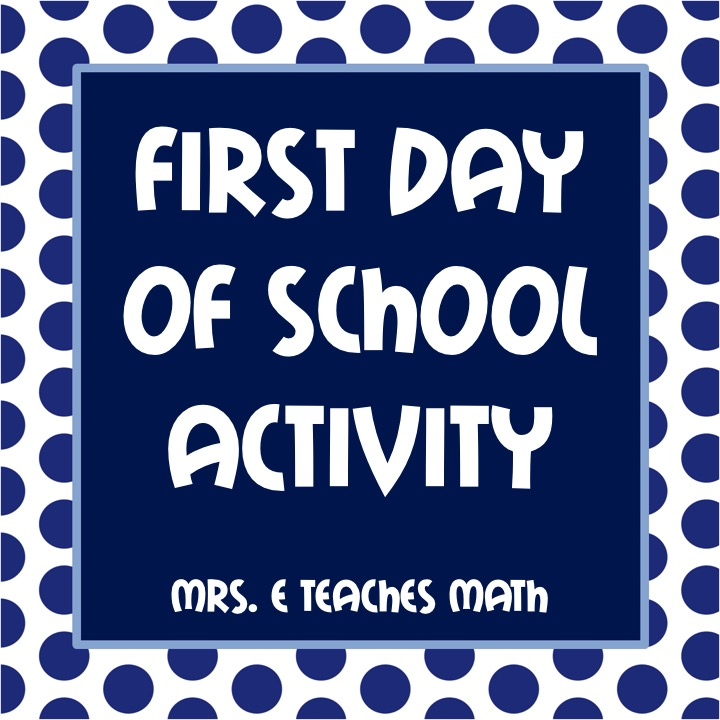 Free First Day of School Activity - perfect for middle school or high ...