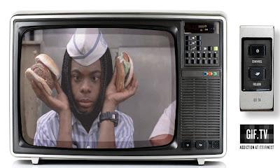 écran de télévision hamburger