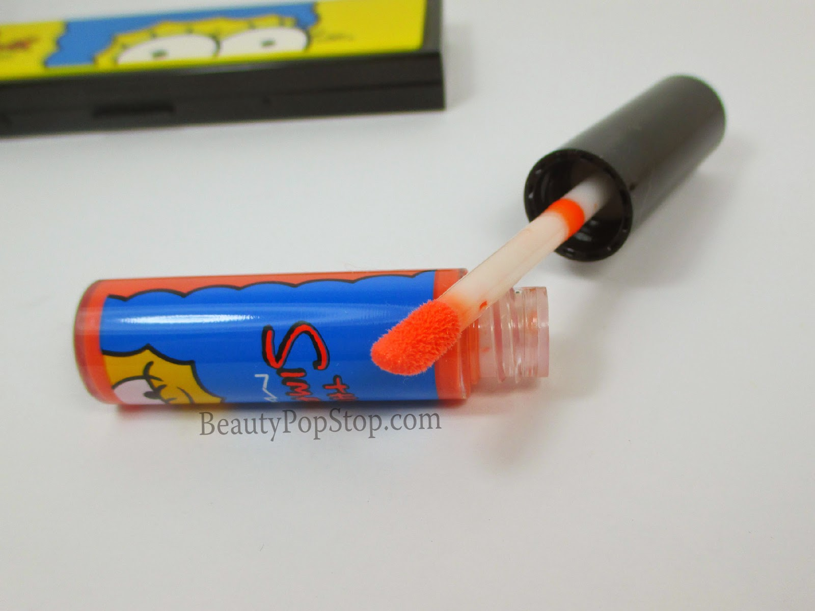 mac x the simpsons grand pumpkin lipglass swatches & review